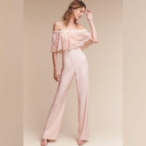 THEIA | Anthropologie Blush Jumpsuit
